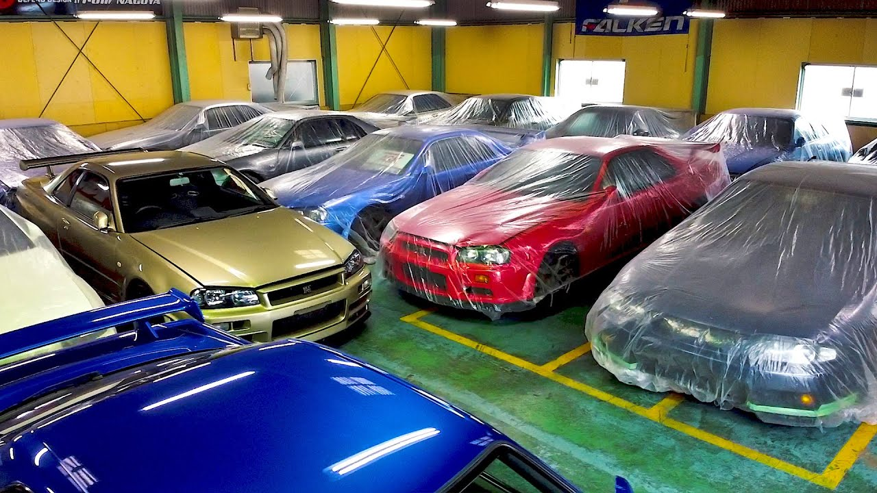 MILLIONS WORTH OF GTR SKYLINES STORED UNDER PLASTIC COVERS!