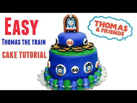 Easy  Thomas the train cake tutorial