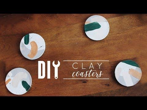 DIY Clay Coasters