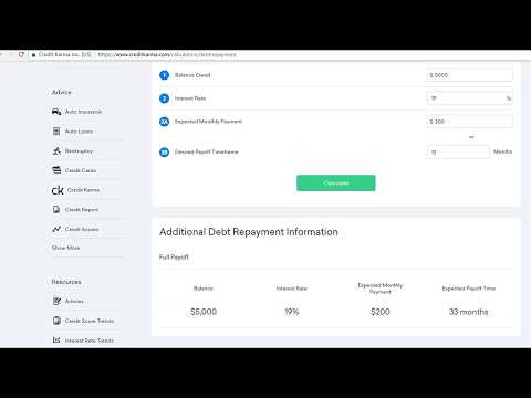 Credit Karma Review, How To Use Credit Karma Debt Repayment Calculator to Strategically Pay 5K Debt