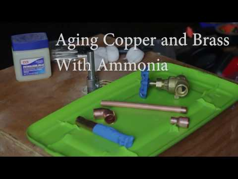 How to Age Copper and Brass with Ammonia