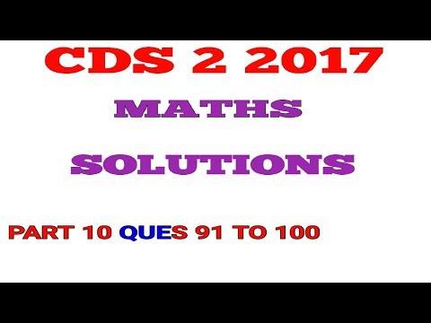 CDS 2 2017 Maths Full Paper Solution Part 10