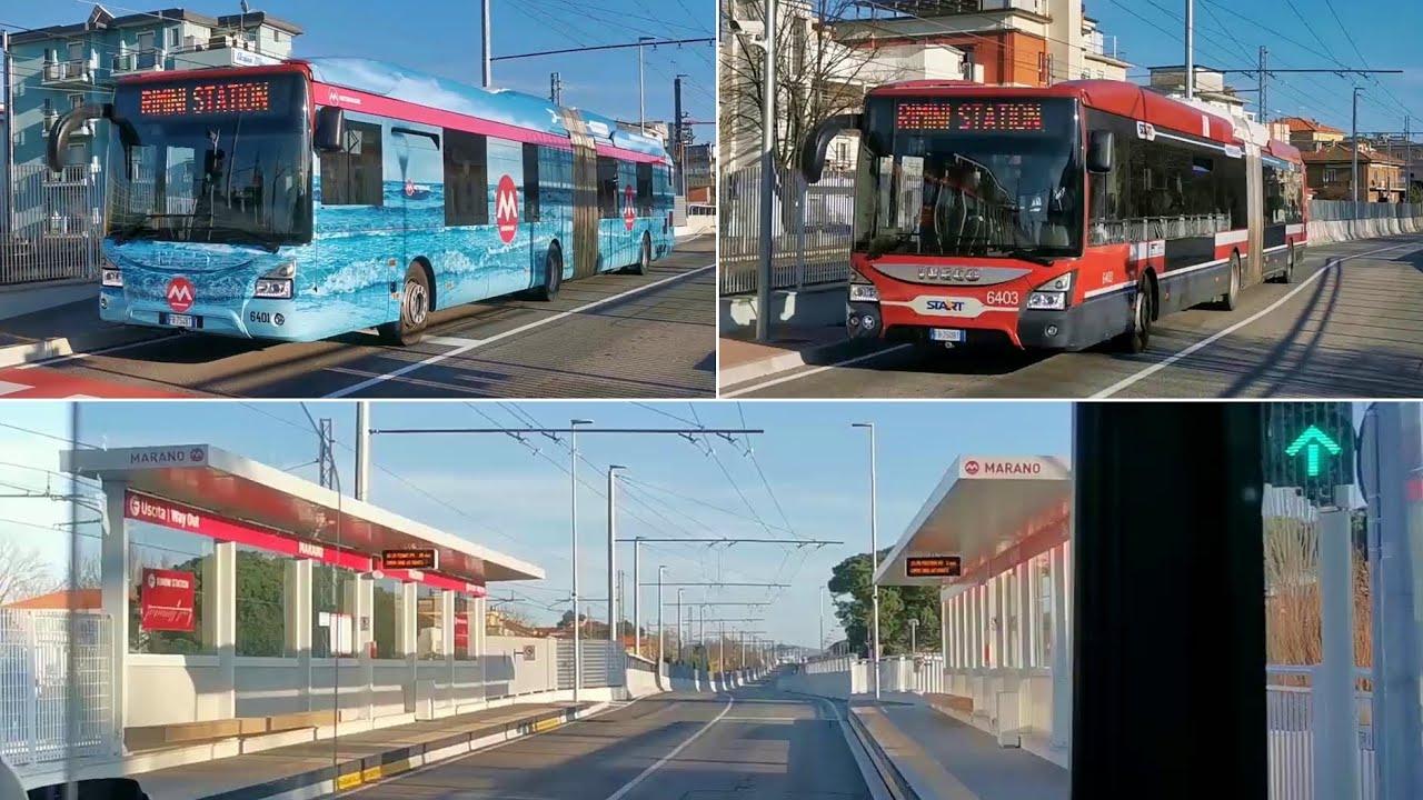 Trasporto Rapido Costiero: col Metromare da Rimini a Riccione - bus, fermate e on-board