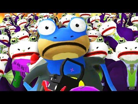BAT FROG vs JOKE FROG ARMY! - Amazing Frog - Part 135 | Pungence