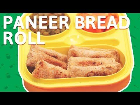 4 Minute Bread Paneer Rolls - Cottage Cheese Bread Roll - ब्रेड पनीर रोल - Paneer Stuffed Bread Roll