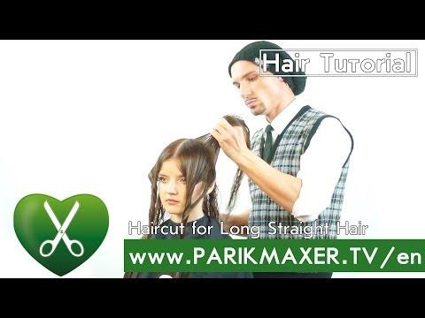 Haircut for Long Straight Hair parikmaxer tv english version
