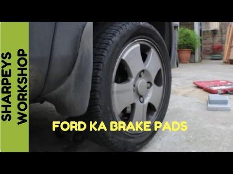 Ford ka front brake pad change 2003 model