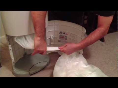 Changing bag and product review of Dekor Plus Diaper Disposal System by Baby Straight Talk