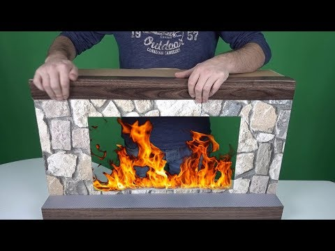 How to Make a Fireplace with TV & Cardboard