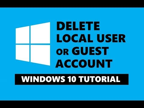 How To Delete Local User Account In Windows 10 | Remove Guest Account | Easily