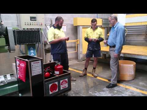 Selecting and using a fire extinguisher