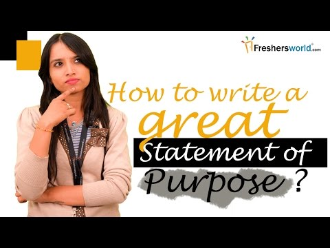 Writing a Statement of Purpose: Samples, Tips, Resources and Help