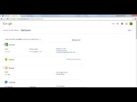how to check your google account dashboard