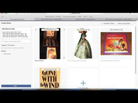 How to upload photo album to a Facebook group