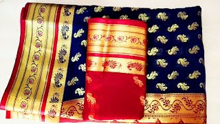 2bfcfb4d31916 Diwali special paithani blouse back neck design cutting and ...