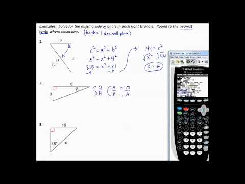 9.4g Solve Right Triangles Review