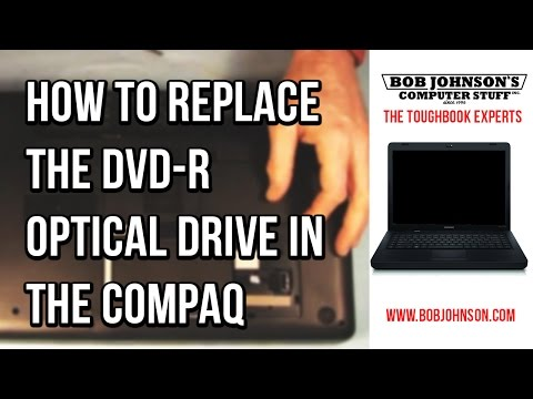 How to replace the DVD-R Optical Drive in the Compaq Presario CQ56 Laptop