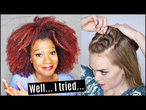 I TRIED A CAUCASIAN'S HAIR TUTORIAL FOR COACHELLA!