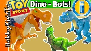 Imaginext DINO-BOTS Toy Review with Surprise Eggs