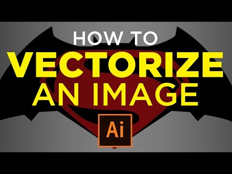 How to Vectorize an Image Adobe Illustrator CC  | Vector Graphic Tutorial
