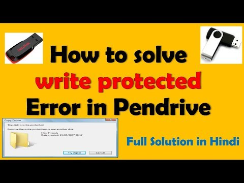 How to solve write protected Error in Pendrive #Full Solution