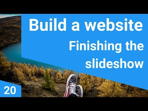 Build a responsive website tutorial 20 - finishing the slideshow