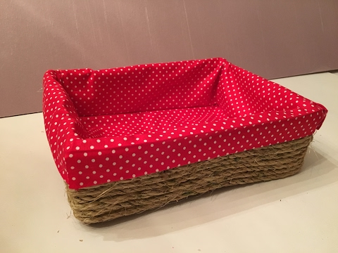 DIY Decorative Basket made out of Cardboard II No SEW TUTORIAL II DUCKINYELLOW