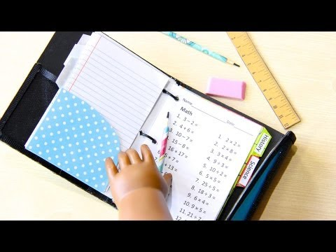 How to Make a Doll School Supplies: Binder | Doll Crafts - Doll Crafts
