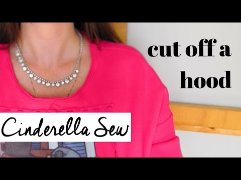 Cut hood off sweater - How to remove hood from hoodie - Easy DIY cutting tutorials