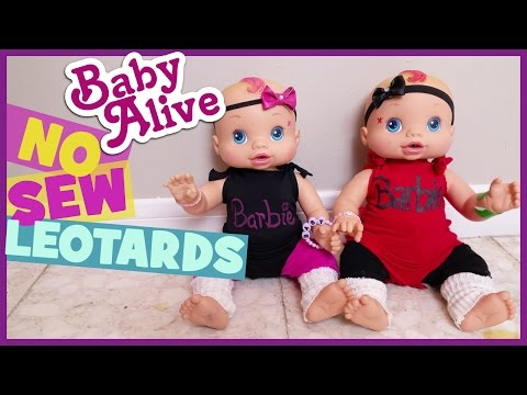 BABY ALIVE NO SEW LEOTARDS!! | DIY Doll Clothes 15 to 18