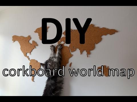 DIY | Korková mapa | Corkboard World Map