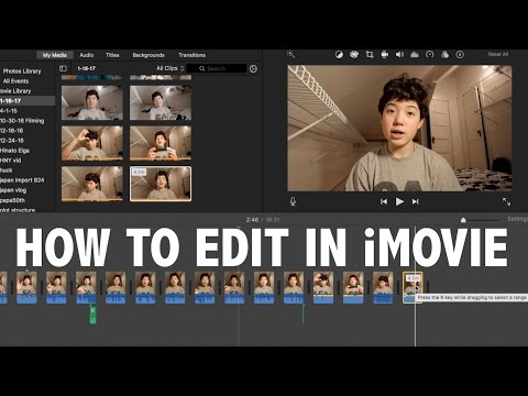 How to Use iMovie For Beginners! (Basic Video Editing)
