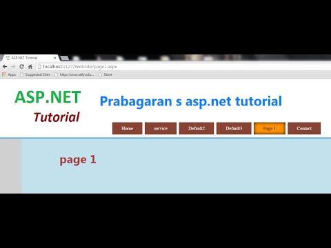 ASP.net Menu and page link