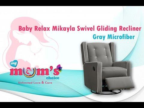 Baby Relax Mikayla Swivel Gliding Recliner    Best Nursery Glider   Mymumschoice