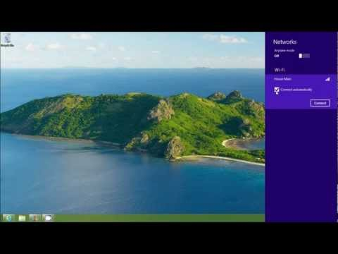 Connecting To A Wireless Network on Windows 8