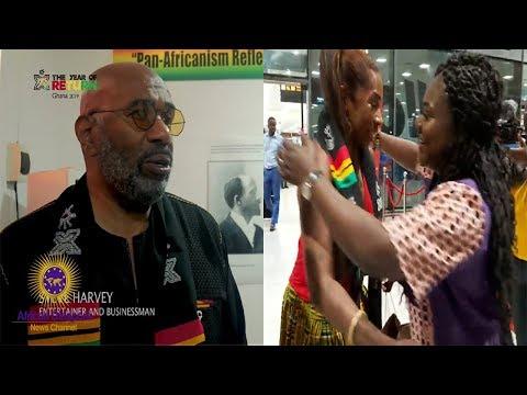 Xxx Mp4 Comedian Steve Harvey Actress Amp AJ Johnson Visit Ghana During The Year Of Return 3gp Sex