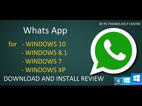 How to Install Whats App for Windows (Windows XP/7/8.1/10)
