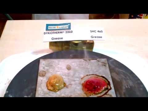 Hot Plate Test DYKOTHERM GREASE 2000 Vs. Mobil SHC 460