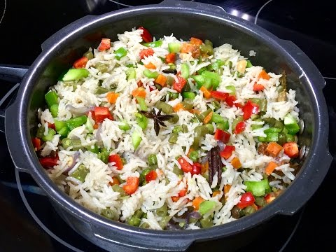 Pressure Cooker Vegetable Pulao Video Recipe | Veg. Rice Recipe
