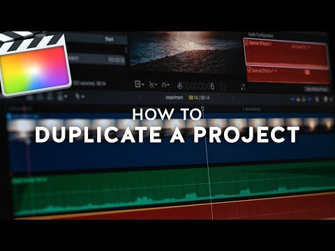 How to Duplicate a Project in Final Cut Pro X