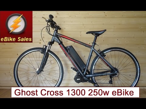 E Bike - Ghost Cross 1300 Mid-Drive Bafang 250W Commuter / Leisure eBike - Electric Bike