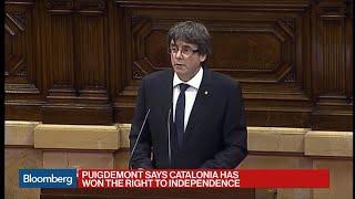 Catalan President Suspends Independence Vote Result