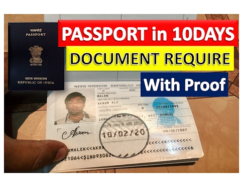 Apply Passport Using Aadhar Card Only || Document Require [In Hindi]