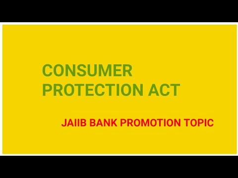 Consumer Protection Act in Hindi IBPS EXAM BANK PROMOTION JAIIB IN Hindi