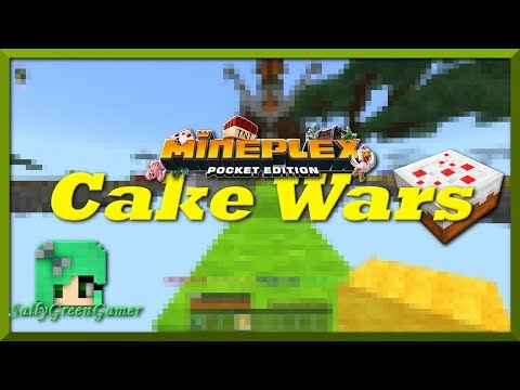 Cake Wars on Mineplex Pocket Edition | Minecraft Pocket Edition | MCPE | SallyGreenGamer