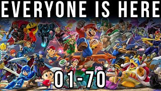 Super Smash Bros. Ultimate - Everyone is Here - (All Characters 01-70)