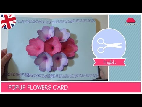 Mother's Day Greeting Card with POP UP FLOWERS - DIY Ideas by Fantasvale