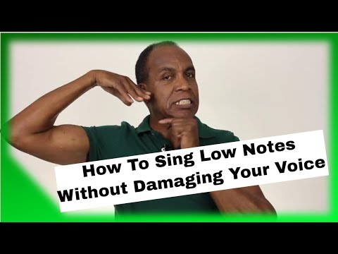 How To Sing Low Notes Without Damaging Your Voice - Roger Burnley Voice Studio