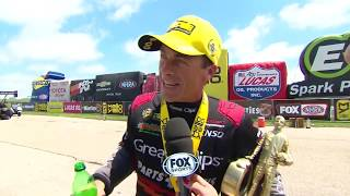 Clay Millican gets the win in Topeka