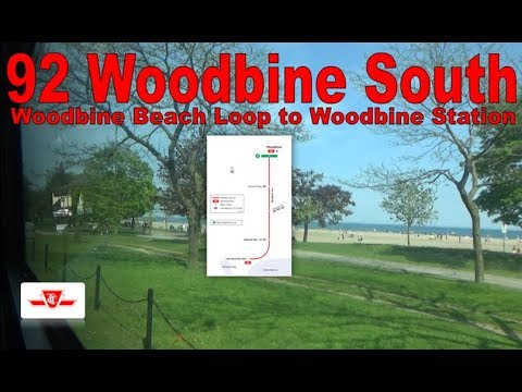 92 Woodbine South - TTC 2005 Orion VII 7745 (Woodbine Beach Loop to Woodbine Station)